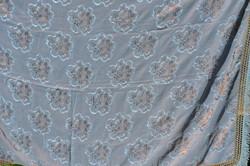 Csodaszép kaméleonos színű ágy terítő nehéz selyem anyagból  ( DBZ 00131 )