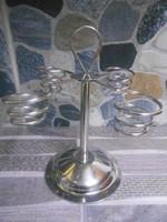 Rist fagylalttölcsér tartó állvány spirál rozsdamentes acél 18*13*13 cm új!