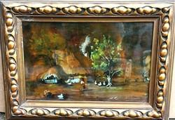 Ismeretlen festő Rudnay Gy. szignóval – Libapásztor című festménye – 181.