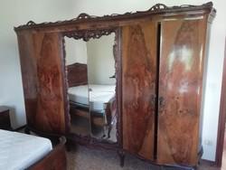 Gyönyörű neobarokk, chippendale tükrös ruhásszekrény-Olaszországból