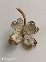Aranyozott ezüst kitűző - filigrán