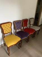 4 db teljesen felújított mélytűzésű bieder szék