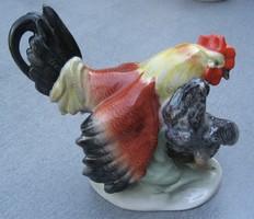 Kakas és tyúk - Kőbányai porcelán