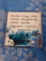 Hűtőmágnes plexi bölcsesség - HU-04