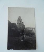 Múltidéző antik képeslap üdvözlőlap a régi időkből 1928