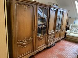 Neobarokk tömörfa tálaló szekrény