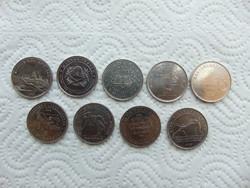 9 darab 50 forint LOT !