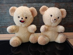 Retro (Coccolino) maci bábfigurák fiú-lány párban szörme macik párban bábozhatóak!!!