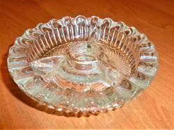 Antik kristály tálka  belül 3 részre   osztva