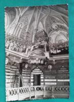 Eger,Főegyházmegyei Könyvtár Freskórészlete,használt képeslap,1961