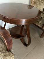 Gyönyörű hajlított lábú ( debreceni ) asztal