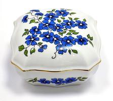 Zsolnay kék virágos bonbonier (ZAL-R62053)