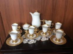 Hollóházi exkluziv porcelán kávés készlet