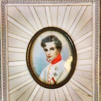 2 Napoleon. Biedermeier miniature painting.