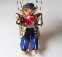 Régi retró bohóc marionett baba báb bábu játék figura 33 cm magas - limitált kiadás!