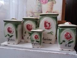 Rózsás kerámia fűszertartók
