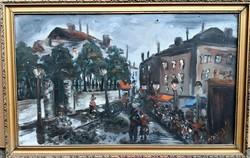 M. Szily szignóval – Esti korzó című festménye – 183.