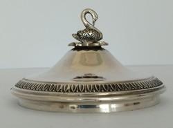 Ezüst cukortartó tető hattyú fogóval