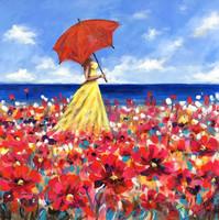 Virágtenger - akrilfestmény