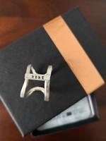 Új 925 ezüst gyűrű, Home-mantrás egyedi ötvösmunka Los Angelesből 64 dollár