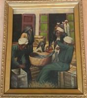 Igazi ritkaság! Kémeri Nagy József festőművész – Halpiac című festménye – 185.
