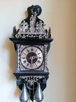 Holland falióra barokk stílusú fekete ezüst  Antik