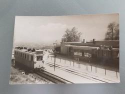 Régi képeslap 1962 Úttörővasút Ságvári-liget állomás levelezőlap