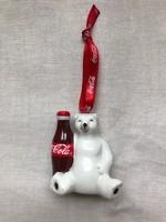 Coca- cola maci függő, karácsonyfa dísz