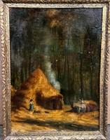 Ismeretlen festőművész – Élet az erdő mélyén című festménye – 188.