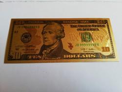 Plasztik 10 dollár