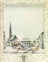 Szecessziós Andersen mese illusztráció reprint nyomat 1924 Nielsen A tűzszerszám kutya királylány