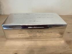 Angol Ezüst 925-ös  fabetétes doboz