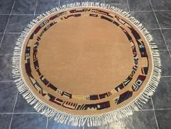 Kerek NEPÁLI kézi csomózású gyapjú szőnyeg, 170 x 170 cm