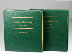 Morgan Dollár Érmegyűjtői album két kötetes 1878-1921