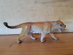 Régi játék tigris figura -Lineol- nagyon szép állapotban! Fémvázra építve, háború előtti