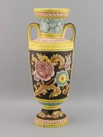 Kézzel festett kerámia váza, Deruta, Olaszország , Deruta Italy V208/25