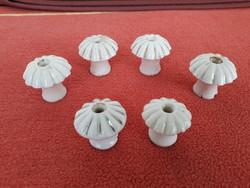 Régi antik porcelán szekrény fiókgomb fogantyú