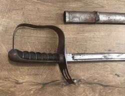 Kard 1861M Osztrák-Magyar gyalogsági tiszti szablya könnyű szalon pengével és saját tokjával