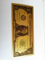Plasztik 1 dollar