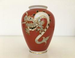 Wallendorf sárkányos váza aranyozott kézzel festett