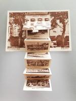 Régi leporello képeslap Balatonfüred fürdő Ipoly udvar levelezőlap