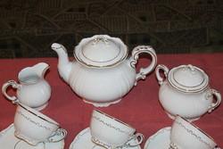 Zsolnay barokk tollazott teáskészlet