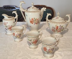 Luxus antik, különleges teás csokis kapuccsinós, Altwien jelzés. Figurális fogantyúval.Videó !