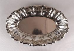 1D738 Régi jelzett ezüst tálca 800-as finomságú 475 g