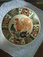 Korondi kakasos tányér, falitányér