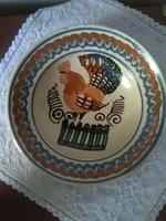 Korondi kakasos tányér, falitányér - Máthé Dénes