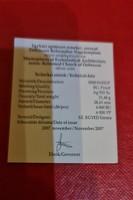 Certificate Debreceni Református Nagytemplom ezüst 5000 Ft 31,46 gramm 0,925 bu érméhez