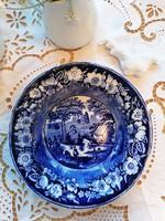 Antik Regout Maadtricht Wild rose jelenetes fajansz tányér