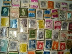 60 db bündli egyben 6000 darab bélyeg kötegekben külföldi usa hollandia uk gb mexiko indonézi stb