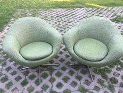 2 db Retro konyak forgó fotel